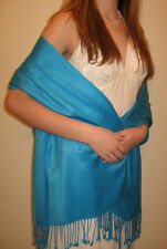 new plain/crystal colored soft/shiny SILK effect pashmina shawl/wrap-SILK touch