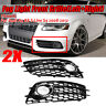 Pair Honeycomb Mesh Fog Light Grill Grille For Audi A4 B8 S-Line S4
