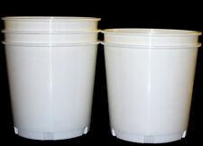 12  White Church Offering Buckets  176  Ounce Buckets Mfg USA Lead Free No BPA
