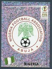 PANINI KOREA/JAPAN WORLD CUP 2002- #404-NIGERIA TEAM BADGE-SILVER FOIL
