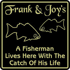 New Personalized Custom Name Fishing Bar Beer Fisherman Fish Home Gift Sign #15