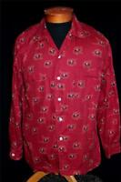 RARE VINTAGE 1950'S RED ENRO EQUESTRIAN PRINT COTTON SHIRT SIZE MEDIUM EXC COND