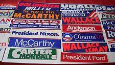 Presidentail Bumper Sticker Lot- 31 different (1960's-2016)a