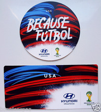 "2014 World Cup ""Because Futbol"" FIFA 2 USA Team Clings, Collectible Sticker Set"