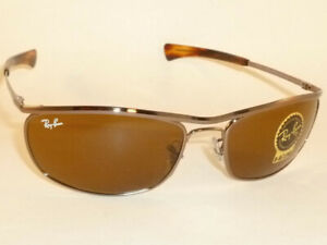 New Ray Ban OLYMPIAN I Deluxe Sunglasses Brown Frame RB 3119M 9181/33 Brown Lens