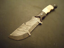 "Pioneer Custom Made Damascus Steel Hunting  Knife,With Bone 10"" PT-2410"