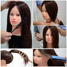 New Real Human Hair Hairdressing Salon Practice Training Head Mannequin Clamp