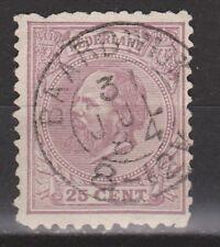 NVPH Netherlands Nederland 26 TOP CANCEL BAARDWIJK Willem III 1872