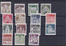 1966 Freimarken Ausgabe Deutsche Bauwerke Postfrisch ** MNH Mi. Nr. 489 - 503