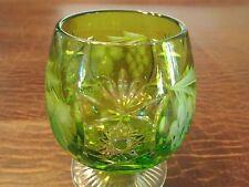 Nachtmann Traube Lime Green Cut to Clear Crystal Brandy Glass Original Sitcker