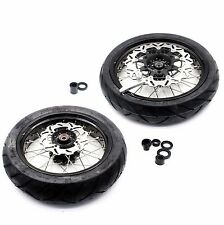 4.25*17 COMPLETE SUPERMOTO MOTARD WHEELS SET FOR SUZUKI DR650SE 1996-2016 TIRE