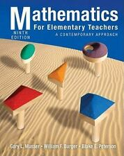 Mathematics for Elementary Teachers : A Contemporary Approach by William F. Bur…