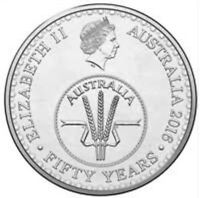 2016 AUSTRALIAN 10 CENT COIN FIFTY YEARS OF DECIMAL CURRENCY UNC