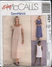 McCall's 2621 Sewing Pattern Modest Dress or Jumper in Two Lengths 10 12 14 UC