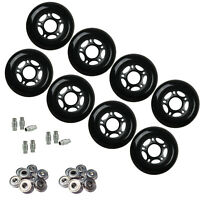 Outdoor Rollerblade Inline Hockey Fitness Skate Wheels 72mm 82A Bearings Spacers