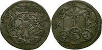 3 Pfennige 1691 Sachsen Dresden Johann Georg IV., 1691-1694, Silber #ZK152