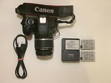 Canon Camera 550D Body + 18-55 mm Lens 18-55 mm +   x3 Battery  +  SD Card 32GB