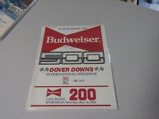 Richard Petty Signed Autographed 1984 Budweiser 500 Program NASCAR Race Winner