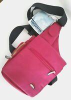Travelon 6225 Red Messenger Crossbody Bag Purse Expandable Travel Vacation NWT