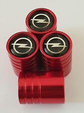 Tapones de polvo Válvula Opel Opel Neumático De Aleación para todos los modelos de metal rojo con plástico me