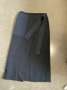 Cos Navy Black Panelled Skirt Size 8