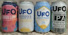 Ufo Craft Beer Cans-4-Bottom Opened-Excellent Condition-Empty