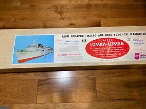 Vintage Sterling Model Caltex Lumba Lumba Wood Model Kit