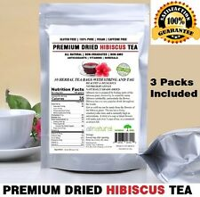 Hibiscus Tea 90 Bags 100% Natural Premium Antioxidant Rich Tea Resealable Pouch