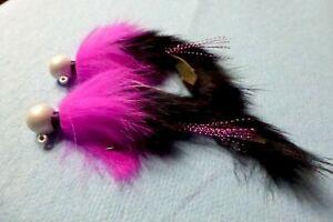 Steelhead Salmon Trout 1/2oz Black/Pink  Twitching Jigs (2 jigs) 4/0 Pearl**