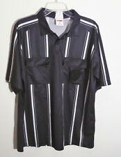 short sleeve black referee jersey with white stripes by Winners size L