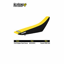 2010-2017 SUZUKI RMZ 250 Black/Yellow FULL GRIPPER SEAT COVER BY Enjoy MFG