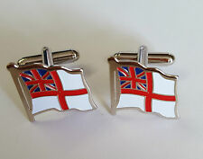 Cufflinks- White Ensign (enamel & white metal)