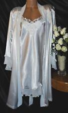 Nightgown, Peignoir Set. NWOT XL Linea Donatella.  Satin white and fabulous!
