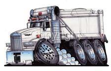 SEMI BIG RIG KENWORTH DUMP TRUCK CARTOON MENS T-shirt #9183 hauler