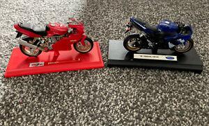 Yamaha YZF-R1 & Ducati Super sport 900 Model Bikes ⭐️clean⭐️