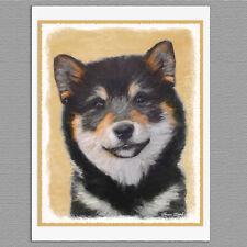 6 Shiba Inu Black and Tan Dog Blank Art Note Greeting Cards