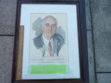 1945 Copy of Unfinished Portrait of Franklin Delano Roosevelt by E. Shoumatoff