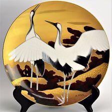 "Noritake Plate Nippon Charger Porcelain Crane Scene X Large 14.5"""
