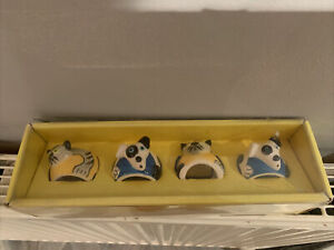 Marks And Spencer's Napkin Rings With Dog And Cats 3D