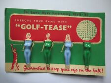 GOLF TEES GOLF TEASE ORIGINAL CARD EXCELLENT CONDITION c1960 VERY SEXIST HUMOUR