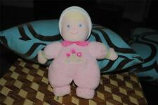 Carter's Pink Just One Year My First Doll Plush Doll Rattle Stuffed Lovey Blond