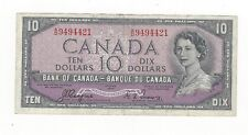 **1954 Devil's Face**Canada $10 Note, Coyne/Towers BC-32a, Ser# AD 9494421