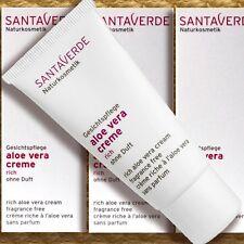 Santaverde Aloe Vera Creme Rich ohne Duft 30ml, Pflege für trocken-sensible Haut