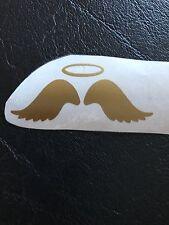 VINILE ali e aureola in oro x 20 circa 2 pollici di lunghezza x