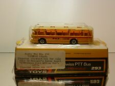 DINKY TOYS 293 DUPLE VICEROY COACH - SWISS PTT - YELLOW  1:87? - GOOD IN BOX