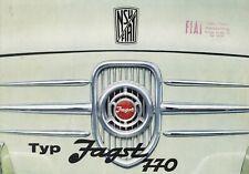 FIAT NSU JAGST 770 Kleinwagen Klassiker Oldtimer Prospekt Brochure 57