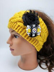 Pittsburgh Steelers Headband NFL Football Ben Roethlisberger Knit Earmuff NWT