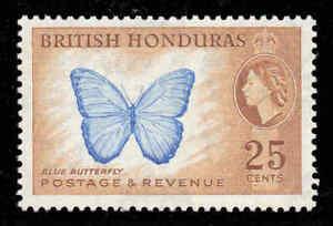 British Honduras 1953 QEII 25c Butterfly SG 186 mint..