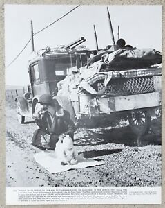 Vintage 11x14 Photograph Migrant Family Stalled on a Highway in New Mexico, 1937