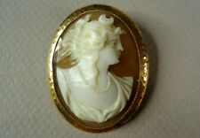 Yellow Gold Combination Pin/Pendant, Glp Co. Antique Large Cameo Mounted in 10K